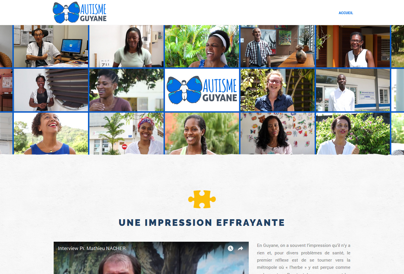 aperçu site Internet Autisme Guyane
