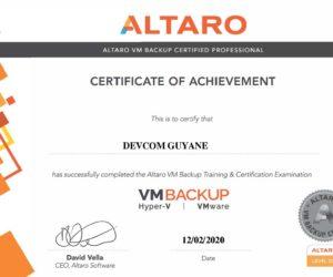 Certification Altaro